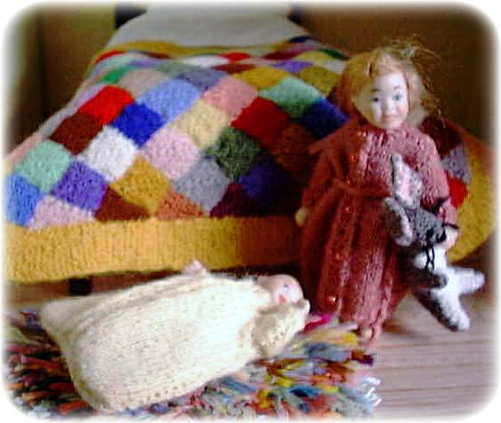 Pattern For A 112th Scale Baby Sleeping Bag And Dressing Gown