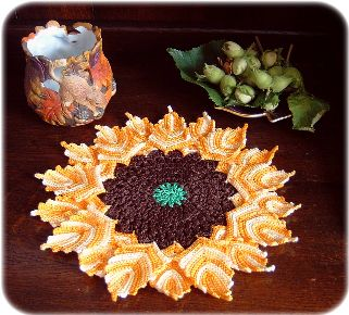pattern for a sunflower doily