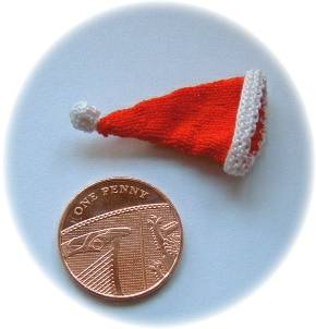 miniature santa hat
