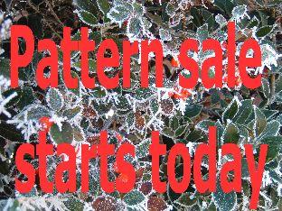 Pattern sale starts today