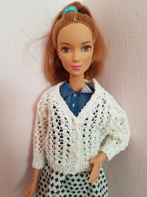 knitted dolls cardigan