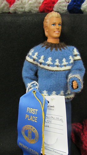 Monica's prize winning jumper