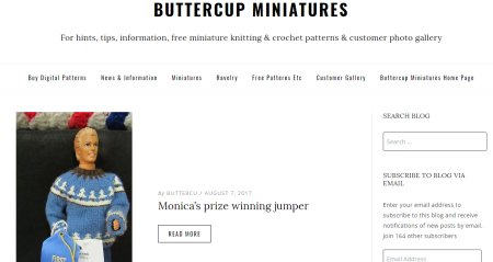 Buttercup Miniatures blog pages
