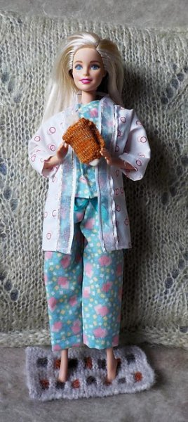 doll with hot water bottle