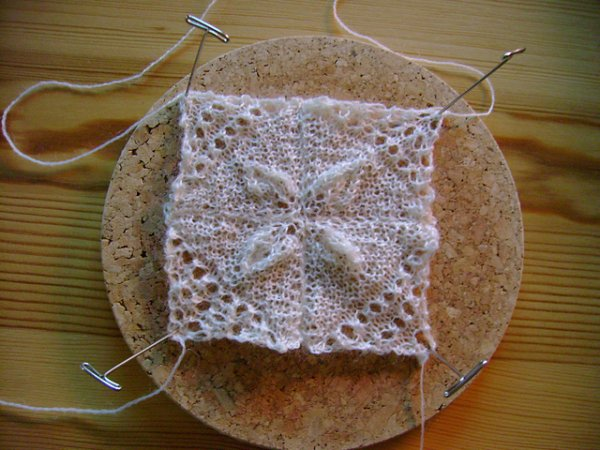 miniature knitted squares