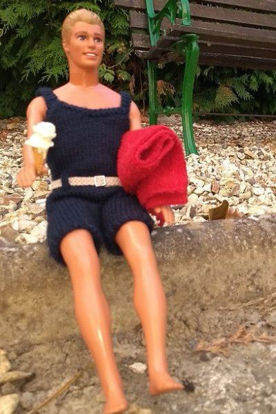 dolls knitted swimsuit