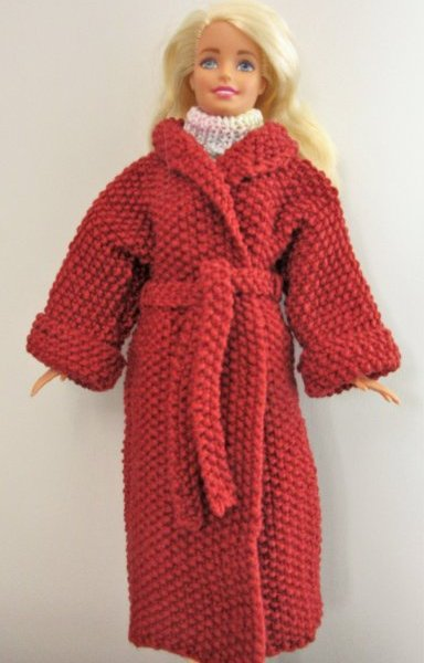 miniature knitted coat