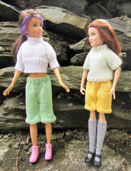 Knitted dolls shorts