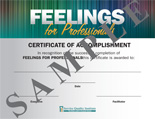 FEELINGS FOR PROFESSIONALS- Certificate