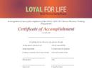 SQI-LOYAL FOR LIFE Certificate