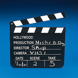 movie clapper, role play, clapboard