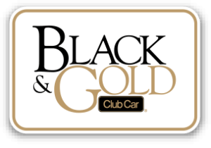 2014 Black Gold Button - Club Car Onward - 6 Passenger