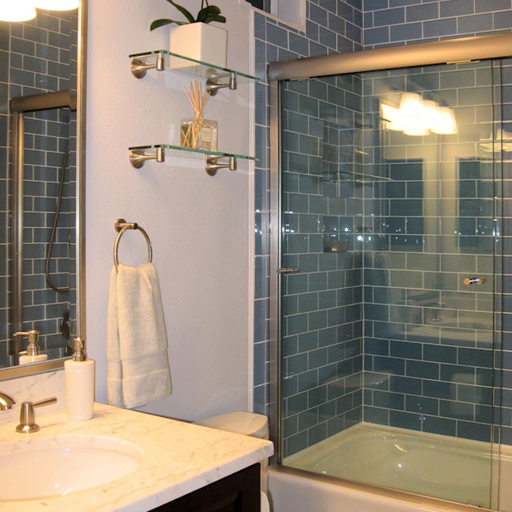 glass tile edge examples subway tile