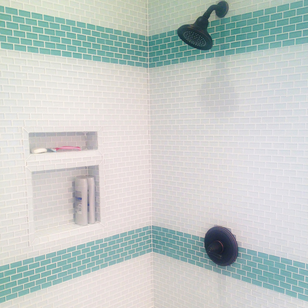 sage green 1x2 mini glass subway tile