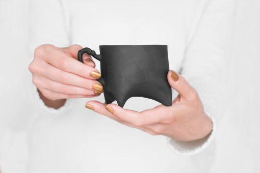 Black Triple Cup Ende ceramics