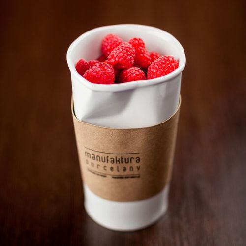 WHITE PAPER CUP XXL by Manufaktura Porcelany