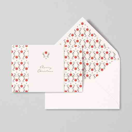 christmas card papear stationary red nose reinder