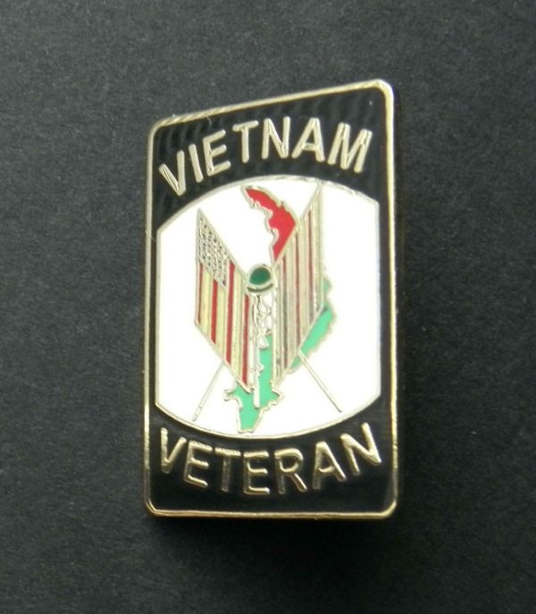 Vietnam War Vet Veteran USA Flag Lapel Hat Pin Badge 1 ...