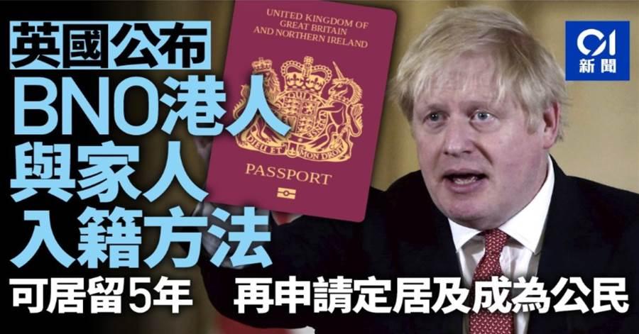 英國:向BNO持有人提供5年居留許可 繼而申請定居並成為入籍途徑