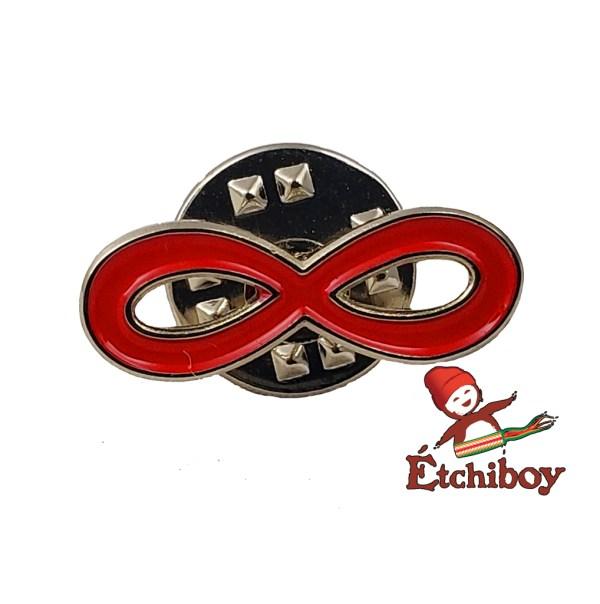 Métis Infinity Pin Red Épinglette Infini Métis Rouge 1
