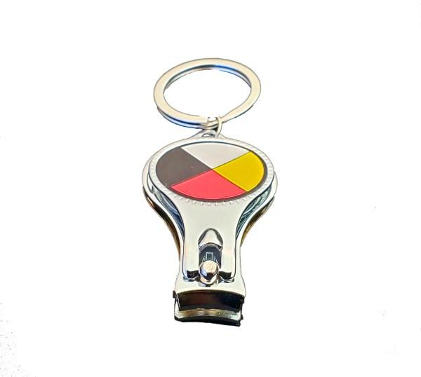 Nail Clipper Bottle Opener Coupe Ongles Décapsuleur Medicine Wheel Roue Médicinale 2