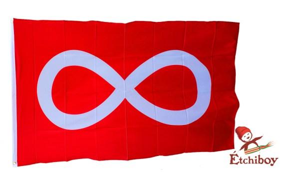 Red Métis Flag Drapeau Métis Rouge Full Size 1