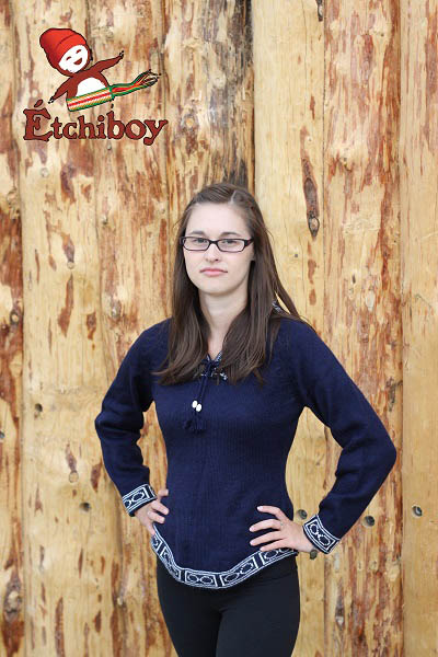 Navy Blue Sweater Chandail Bleu Marin 3