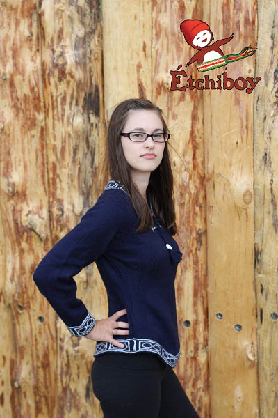 Navy Blue Sweater Chandail Bleu Marin 4