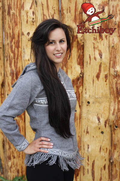 Hooded Grey Sweater With Red River Cart Chandail Gris Avec Capuchon Avec Charrette 2