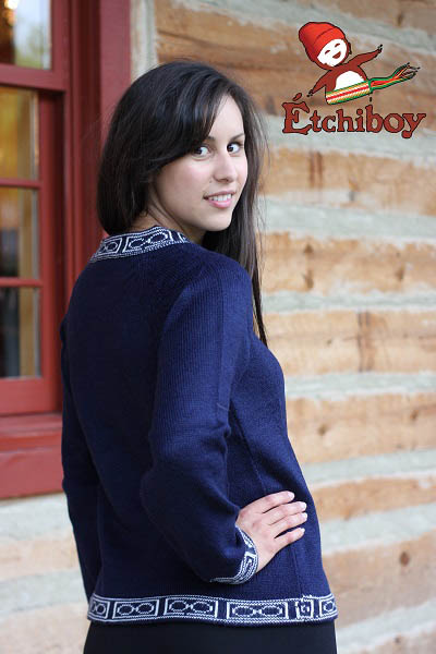 Navy Blue Sweater Chandail Bleu Marin Unisex 2