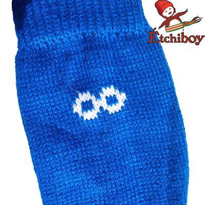 Socks Bas Alpaca Wool Laine Alpaga Blue Bleu One Size Fits All 3