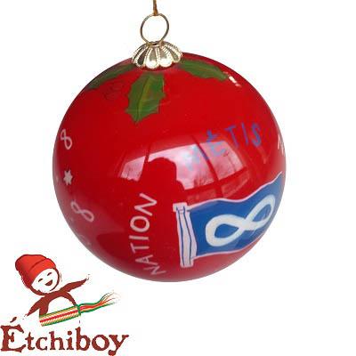 Christmas Bulb Red Boule De Noël Rouge 1