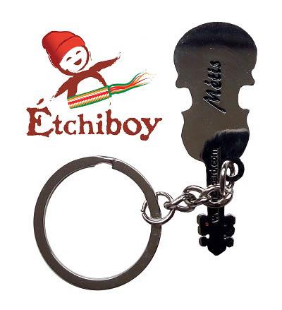 Métis Fiddle Keychain Porte-Clefs Violon Métis 2