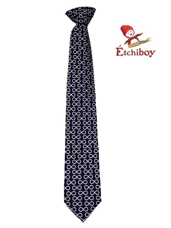 Blue Infinities Necktie Cravate Infinis Bleue 1