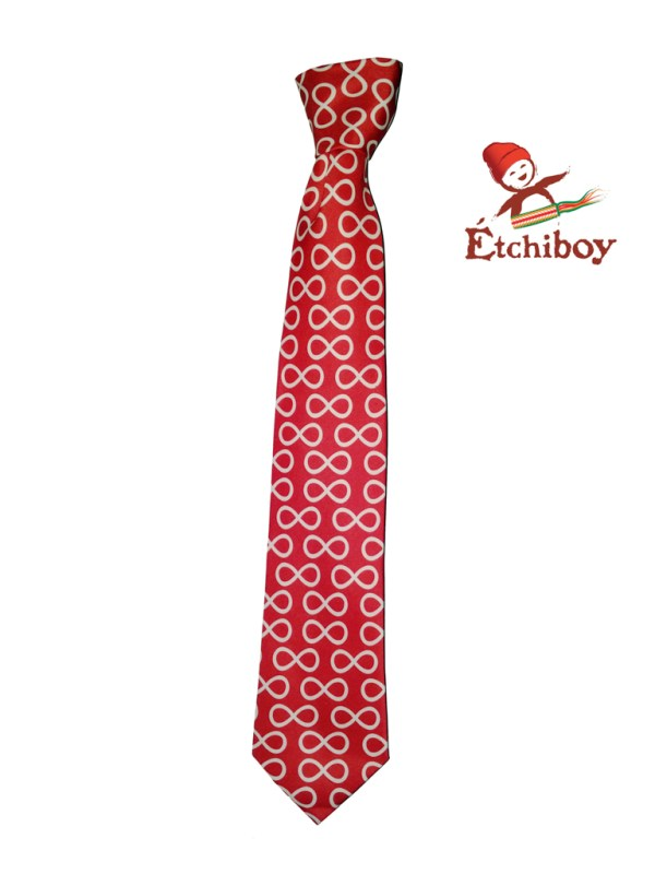 Red Infinities Necktie Cravate Infinis Rouge 1