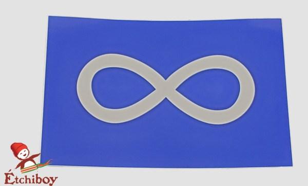 Métis Blue Flag Sticker Autocollant Drapeau Métis Bleu 1