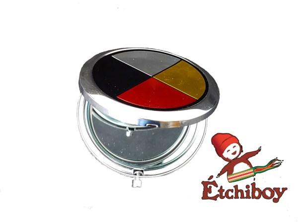 Medicine Wheel Pocket Mirror Miroir de Poche Roue Médicinale 2
