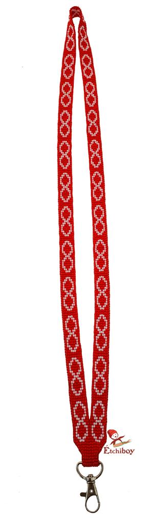 Étchiboy Lanyard Dragonne Beaded Red Métis Perlée Rouge 1