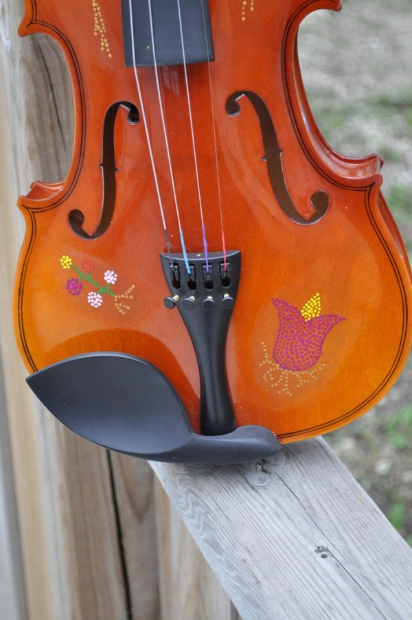 Fiddle With Metis Beadwork Design Violon Avec Dessin de Perlage Metis - Pattern/Modèle -14 1