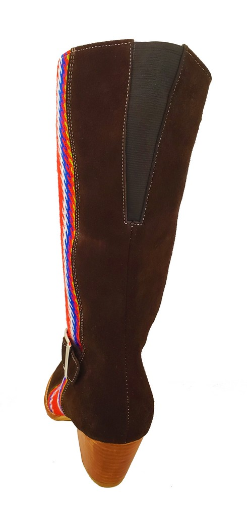 Red River Buckled Leather Boot With Strap Botte A Boucle Avec Bande 9