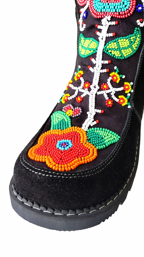 Etchiboy One of A Kind Beaded Boot Botte Perlée Unique - B 8