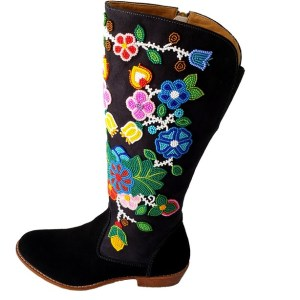 Leather Beaded Boot Botte Perlée Etchiboy