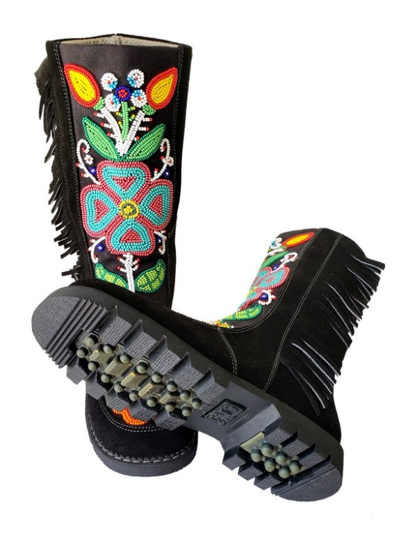 Etchiboy One of A Kind Beaded Boot Botte Perlée Unique - B 6