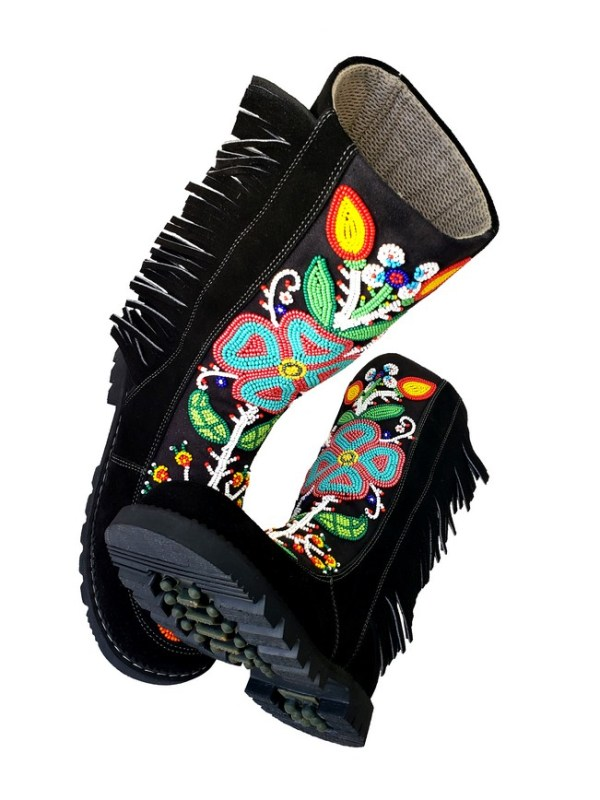 Etchiboy One of A Kind Beaded Boot Botte Perlée Unique - B 7