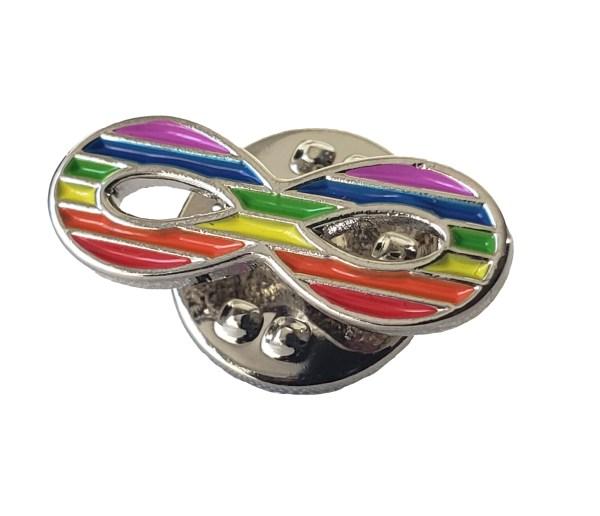 Épinglette infinité arc-en-ciel  Rainbow Infinity Pin 1