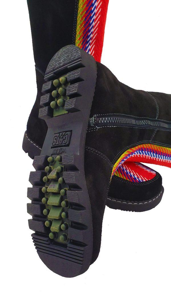 Belle Long Leather Boot With Front Strap Longue Botte Cuir Avec Bande Avant 4