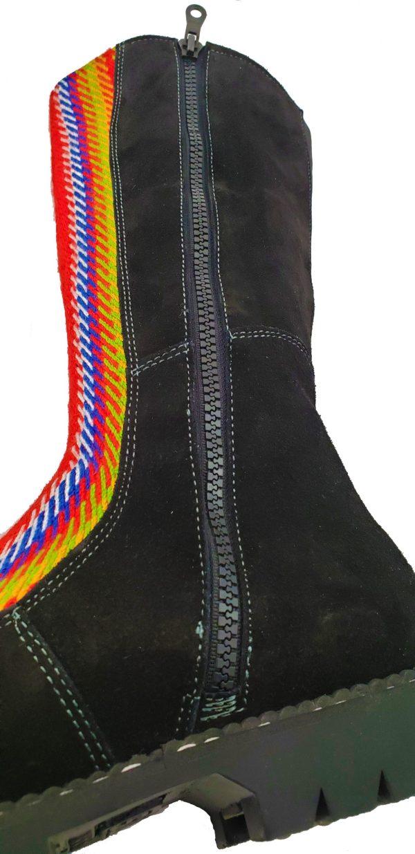 Belle Long Leather Boot With Front Strap Longue Botte Cuir Avec Bande Avant 5