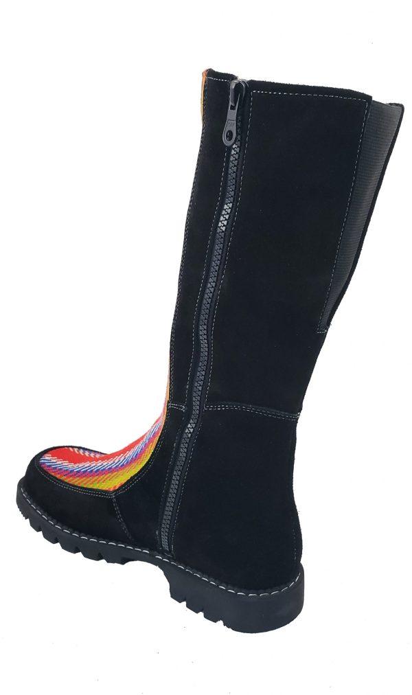 Belle Long Leather Boot With Front Strap Longue Botte Cuir Avec Bande Avant 9