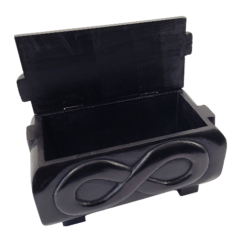 Étchiboy Medium Sash Carved Metis Box Coffre Métis Gravé Ceinture Moyenne 3