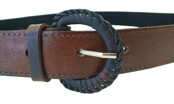 Leather Belt with Sash Inserts Ceinture de Cuir avec la Ceinture Fléchée Incrustrée 3